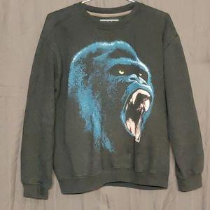 21 Men Sweatshirt Navy Blue Large